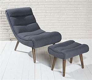 Sessel Modern Design : polstersessel dunkelgrau mit hocker mit holzbeinen ~ A.2002-acura-tl-radio.info Haus und Dekorationen