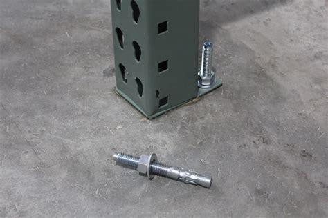 anchor bolts  pallet rack warehouse rack  shelf