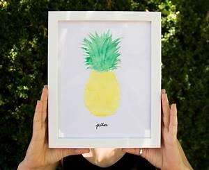 Watercolor Pineapple Print