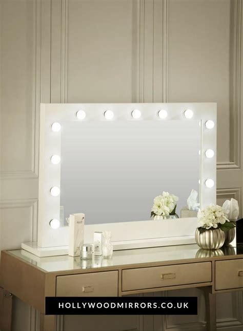 vanity table with lights around mirror best 25 white gloss dressing table ideas on pinterest