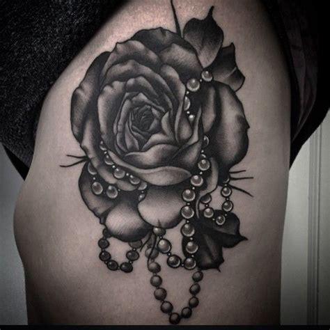 ideas  pearl tattoo  pinterest rose