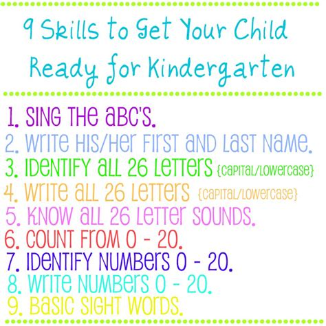 9 skills to get your child ready for kindergarten bonnie 854 | 9 skills for kindergarten