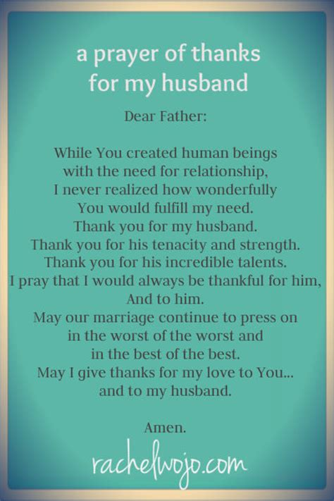 prayer     husband rachelwojocom