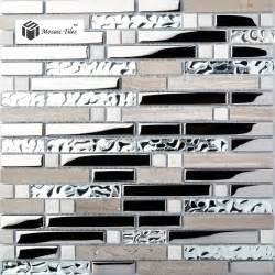 wholesale backsplash tile kitchen kitchen backsplash tile gray marble silver glass mosaic wholesale 1 box including 11 pcs 12 39 39 x12