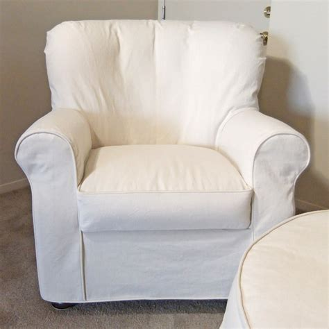 Living Room Chair Slipcovers by Denim Armchair Slipcover Traditional