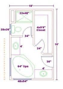 Photo Of Master Bath Floor Plan Ideas by Bathroom And Closet Floor Plans Plans Free 10x16