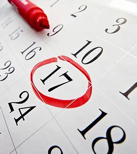 calendar cavit