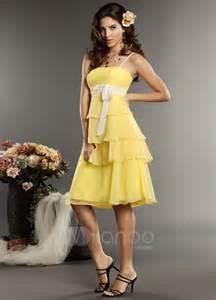yellow bridesmaid dresses 5 kinds of yellow bridesmaid dresses
