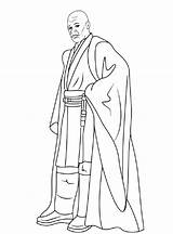 Mace Coloring Windu Pages Wars Star Sheets Visit sketch template