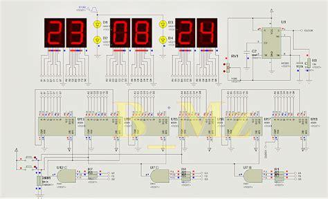 membuat jam digital 7 segment tanpa program microcontroller dicky b mz