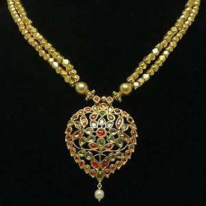 Antique Rajasthan necklace - Antique gold jewelry - Jewel