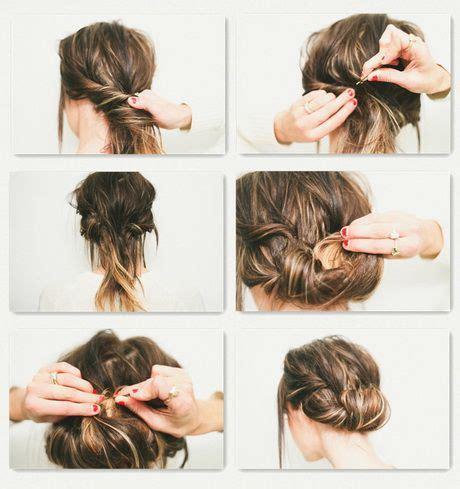 einfache steckfrisuren fuer schulterlanges haar happy hair
