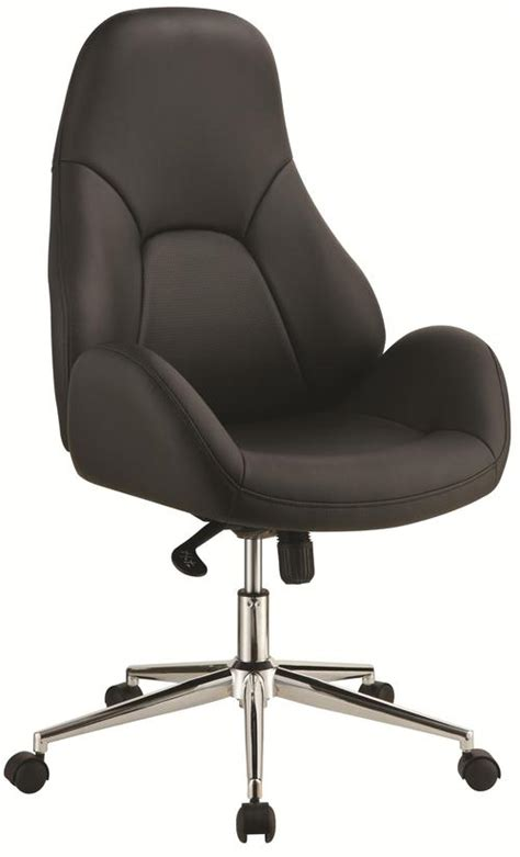 coaster office chairs black office chair with swivel base