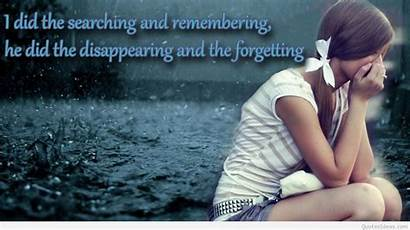 Sad Quotes Wallpapers Emotional Alone Very Quote