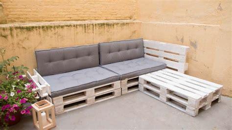 Cómo hacer un sofá de palets para la terraza Sofas con