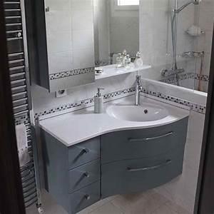 Meubles salle de bain plan en résine vasque moulée Atlantic Bain