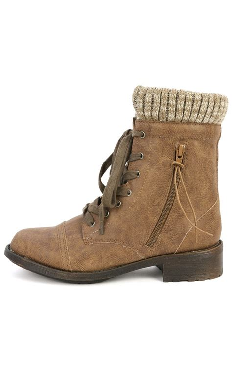 ankle sweater boots qupid relax 120 taupe sweater cuff ankle boots