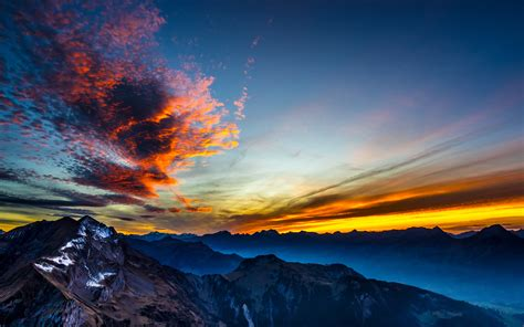 wallpaper surreal sunset