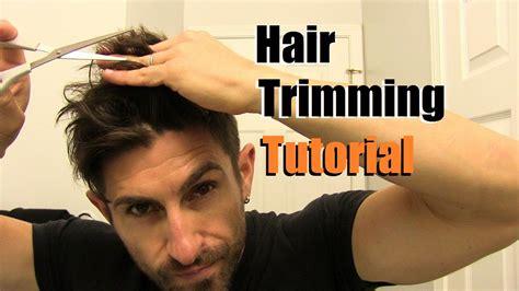easy home haircut   cut   hair  home trimming tips tricks youtube