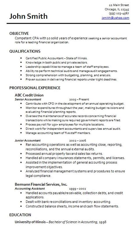 Exle Of Resume For Accounting Position by Accountant L Picture Accountant Resume Sle