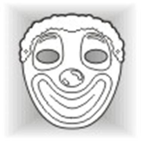clown mask template clown masks butterfly masks and other free masks for infants