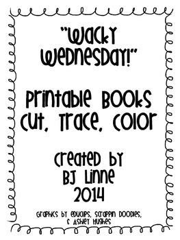 wacky wednesday cut trace amp color printable book great 554   9b386033f0e8edd2299cd5b86d2d80dd wacky wednesday mini books