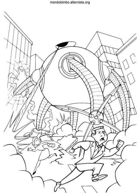 disegni da colorare incredibili gli incredibili una normale famiglia di supereroi da