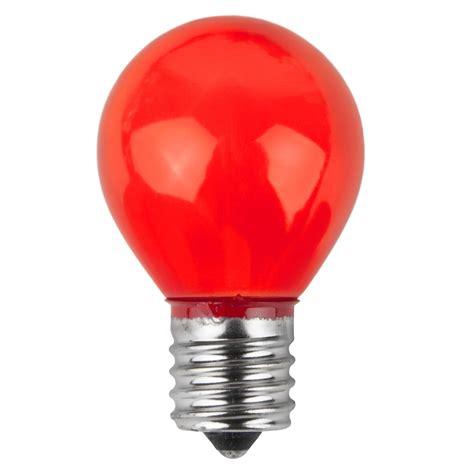 patio  party light bulbs  opaque red  watt
