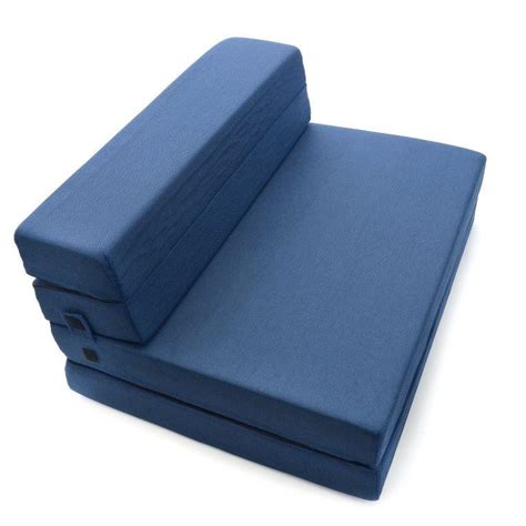 tri fold mattress milliard tri fold foam folding mattress and sofa bed ebay
