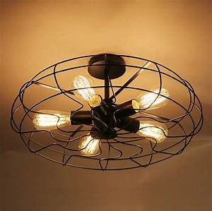 Ceiling extraordinary fan with edison bulbs large