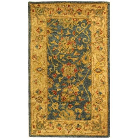 4 foot area rugs safavieh antiquity blue 2 ft 3 in x 4 ft area rug at21e