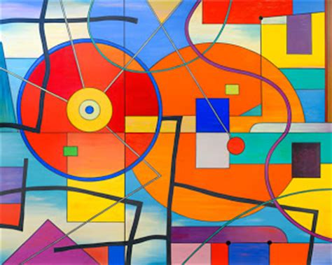 Abstract Painting Using Shapes by Shine Brite Zamorano San Diego Abstract