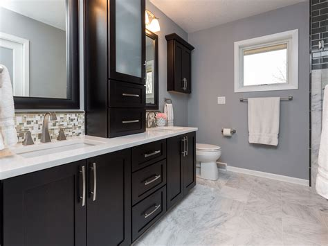 Bathroom Colors With White Cabinets by Cabinets White Counter Tops And A Marble Floor Add