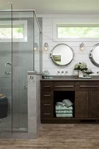Nautical, Master, Bathroom, Maximizes, Its, Tub, Space
