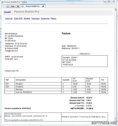 bureau photographe télécharger logiciel facture modele pro