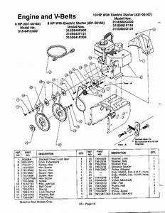 Mtd 315e640f000 Gas Snowblower Parts