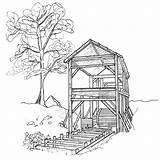 Mill Coloring Watermill Designlooter Drawings Template 32kb 800px sketch template
