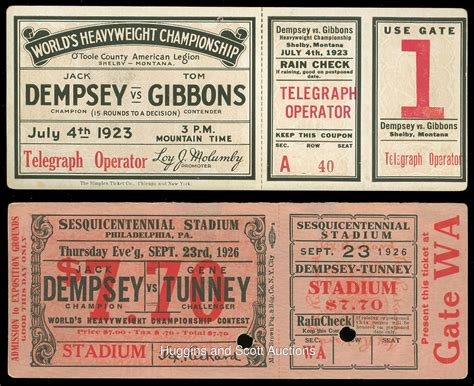 (6) Vintage Boxing Cards, Tickets & Photographs