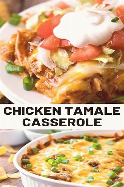 Tamale Casserole Chicken Cheesy Recipe Tamales Dinner