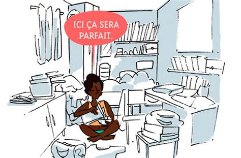 dessin animé de cuisine les petits appartements leur unique avantage et leurs