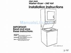 Whirlpool Thin Twin Installation Instructions Manual Pdf