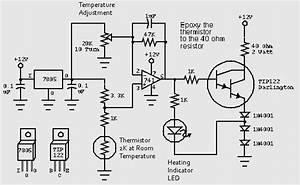 Temperature Regulator Circuit With Tip122