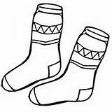 Coloring Socks Winter Coat Pages Kid Printable Shoes Clothes sketch template