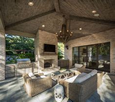 covered patio with fireplace drees homes model