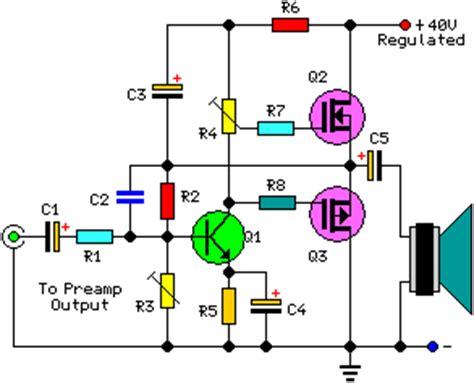 Watt Audio Power Amplifier Schematic Circuit Project