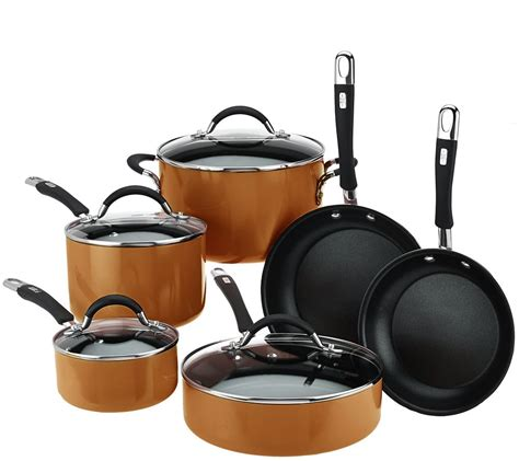 qvc cookware enamel porcelain essentials piece cook cooks
