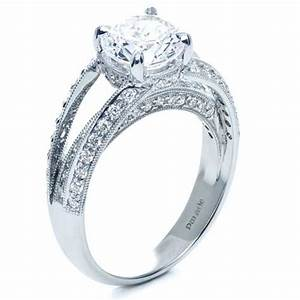 split shank diamond engagement ring parade 172 With split shank wedding ring