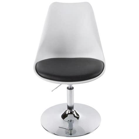 chaise design aisne rotative  reglable blanc  noir