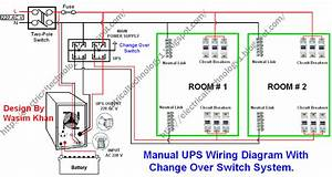 Manual  U0026 Auto Ups    Inverter Wiring Diagram With Changeover Switch