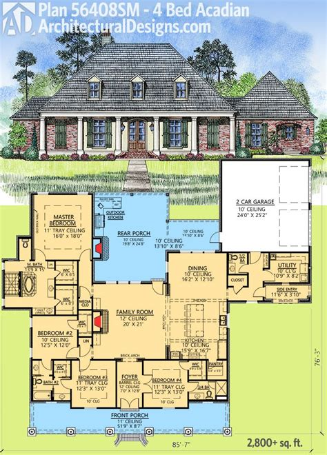 outdoor living house plans 158 best acadian style house plans images on